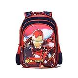 HUOQILIN Iron Man Mochila Escolar 4-6 Grados Cuarto Centenar De Cincuenta por-Carga De Seis Mochila Ligera (Color : B)