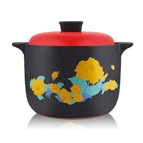 Gamvdout Cacerola de la Olla Cazuela, Olla de Sopa sin paletas Series de cazuela de Utensilios de Cocina Compatible Cocina de inducción Compatible con Cubierta de Color Maceta Olla de Sopa