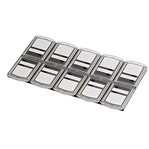 Hama Speicherkarten-Box für 10 Speichermedien, Transparent
