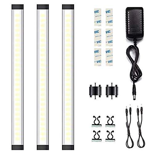TECKIN LED Unterbauleuchte Küche, Schrankbeleuchtung Intelligentes Dimmen über Berührungssteuerung (Touch), ultradünn LED Leiste 12W, 800lm, 4000k,