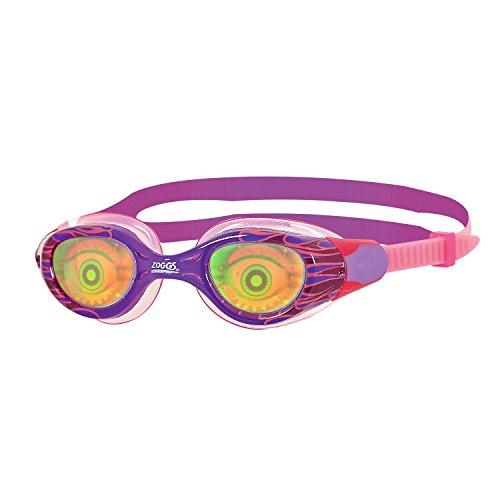 Zoggs Unisex-Youth Sea Demon Junior Schwimmbrille mit Hologramm-Objektiv, Purple/Pink/Hologram, One Size