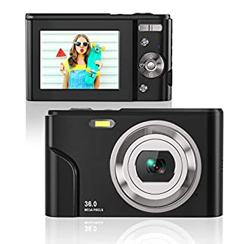 Rosdeca HD 36MP Digital Camera for Photography with 16X Zoom Digital Video Camera with 2.4 Inch IPS LCD Display Point and Shoot Compact Camera for Kids Teens Beginners