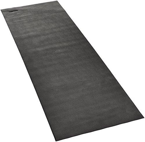 Amazon Basics – Esterilla protectora de alta densidad para uso con máquinas de gimnasio y cintas, 92x259cm, Negra