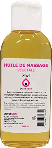 Huile de massage Végétale MIEL - 100ml- Purespa By Purenail- idéal pou un massage sensuel et ennivrant, Livraison Gratuite en France