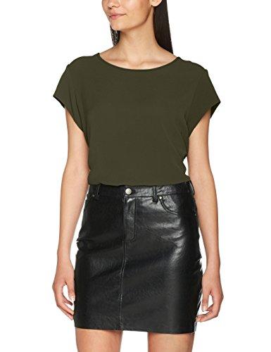 ONLY Damen T-Shirt Onlvic S/S Solid Top Noos Wvn , Grün (Kalamata Kalamata) , 40