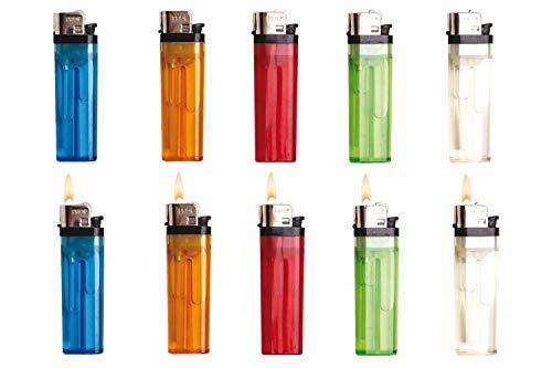 SweedZ 10 Stück Einwegfeuerzeuge Feuerzeug Feuerzeuge transp.