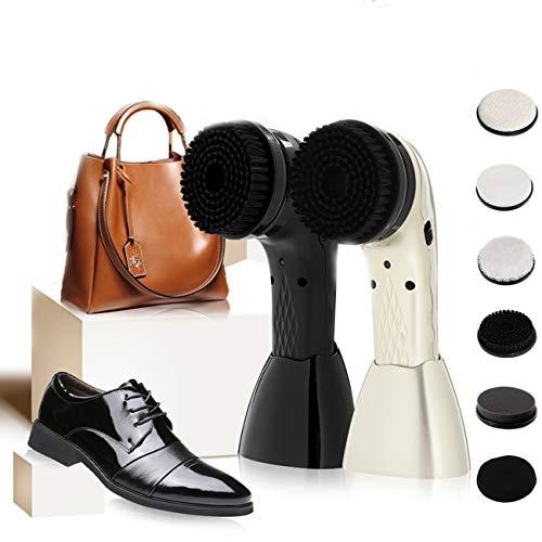 HAITOY Pulidora Zapatos eléctricos, Kit Portátil del Brillo Zapato PDA con Brillo de Zapatos Automática, USB Recargable para Bolso de Cuero, Zapatos, Cepillo del Limpiador Depurador del Sofá,Negro