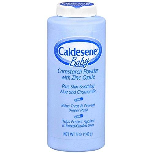 Caldesene Baby Cornstarch Powder With Zinc Oxide 5 oz (Pack of 4)