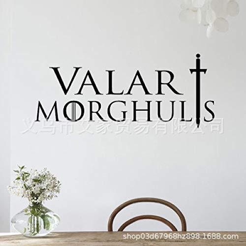 JXLLCD creatieve muurstickers in het Engels, afneembaar voor de woonkamer, slaapkamer, woonkamer, wandsticker van PVC, afneembaar 57 x 25 cm