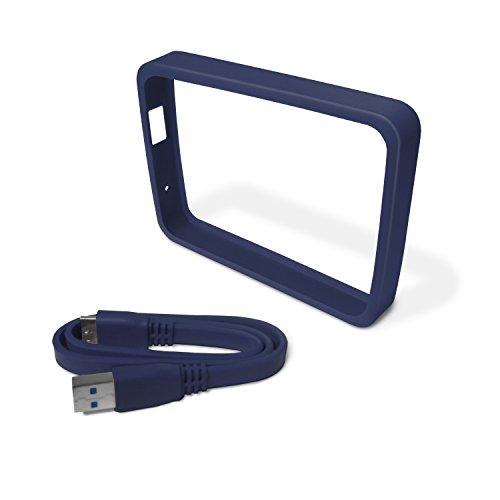 Western Digital Grip Pack Farbenfrohe Halterung und passendes flaches USB 3.0-Kabel für My Passport Ultra 2TB und 3TB -Laufwerke.