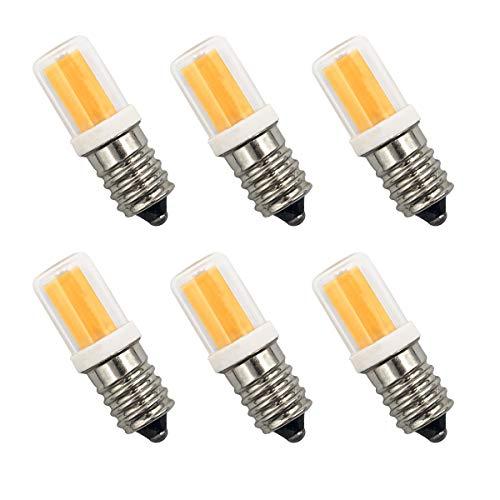 E14 LED Glühbirnen 2W 25W Entspricht Glühbirnen Dimmbar Warmweiß 2700K Kleine Edison-Schraube Salz-Lampe AC 220-240V für Nachtlicht, Herd-Hoods Bulbs, Deckenventilator, Tischlampen(6er-Pack)[MEHRWEG]