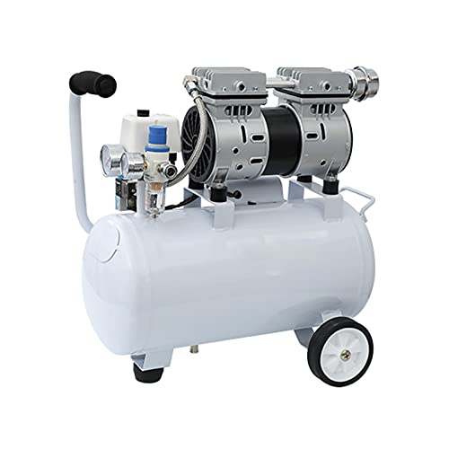WUK Air Compressor Quiet 56 dB Portable Oil-Free Pump 550W Air Compressor 9/24L Woodworking Spray Paint Air Compressor with Oil-Water Separator