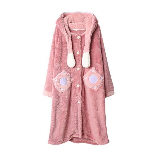 Couples Robe de chambre polaire super douce et confortable Peignoir pleine longueur Hommes Femmes Ensemble de pyjamas chauds d'hiver Longue robe de chambre Lilo & Stitch Vêtements de détente à capuche