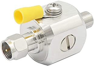 Lightning Arrestor F Type Male to Female Square 3GHz 75 ohm Lightning Surge Protector with 90V Gas Tube Discharge Surge