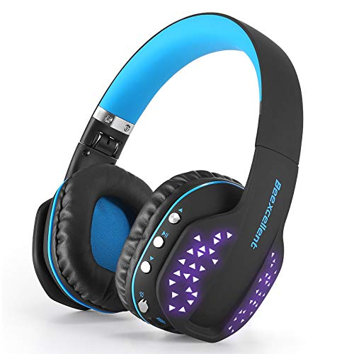Wear a collapsible Q2 wireless Bluetooth headset Black and blue