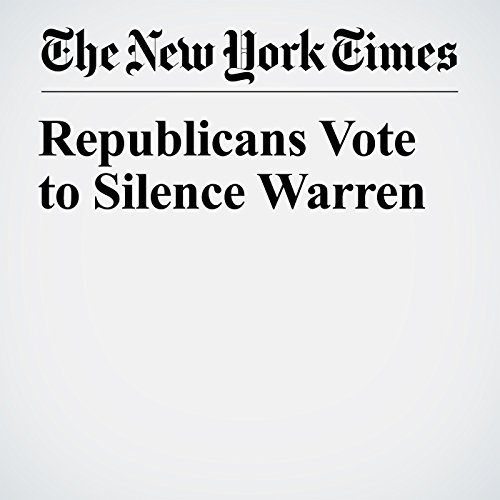 Republicans Vote to Silence Warren copertina