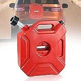LZDseller01 5L Portable Fuel Tanks Antistatisch, Benzintank mit Halterung für Motorrad, rot, 29x25x12cm