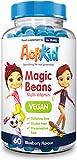 ActiKid Magic Beans Vegan Multi-Vitamin 60x Blueberry Flavour | Gelatin Free | Kid's Vitamin | Immune System