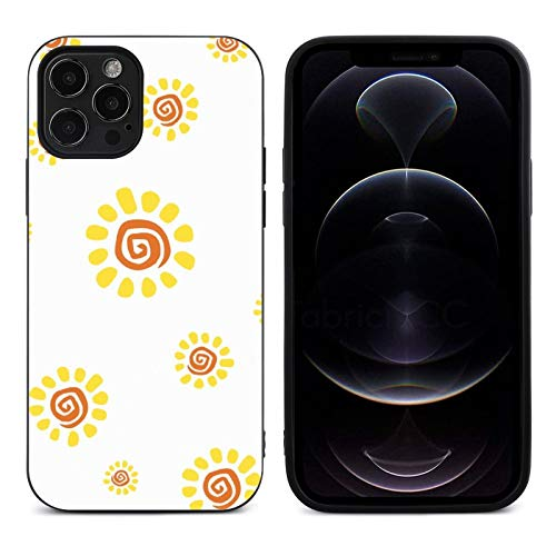 Sun Design for iPhone 12 Pro Case/iPhone 12 Case, Ultra Thin Slim Shockproof Flexible TPU Phone Case, iPhone 12 Pro Protection Case
