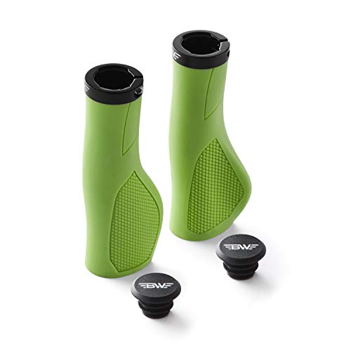 BW USA Ergo-Lock 2.0 Grips – Dual Lock-On MTB Bike Handlebar Grips - Green