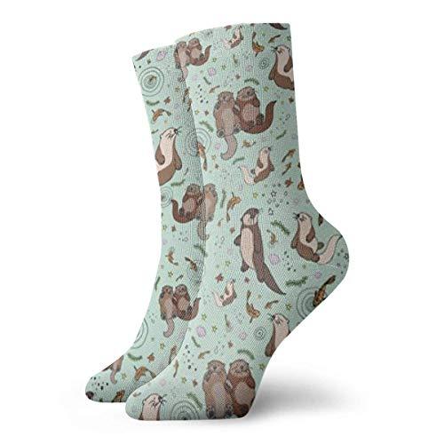 Unisex-Socken mit Meeresotter-Motiv, atmungsaktiv, für Laufen, Wandern, Wochenendsport, Sportsocken, kurz, 30 cm