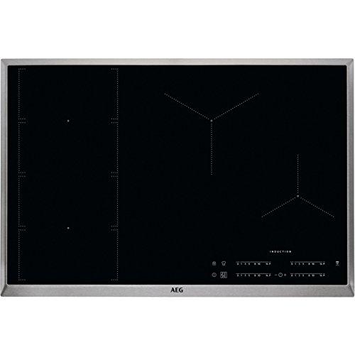 AEG IKE84471XB Autarkes Kochfeld / Induktion / Hob²Hood / Slider-Bedienung / 80 cm / Edelstahlrahmen / 4 Kochzonen / Flexi-Bridge-Funktion / Powerfunktion / Kindersicherung