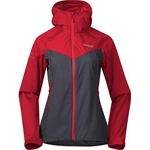 Bergans Damen Microlight Jacke, soliddkgrey-firered, S