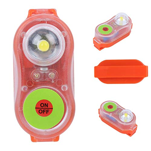 Deror Chaleco Salvavidas Lámpara de luz LED Litio JHYD-I Agua de mar Autoiluminación Linterna Salvavidas Orange