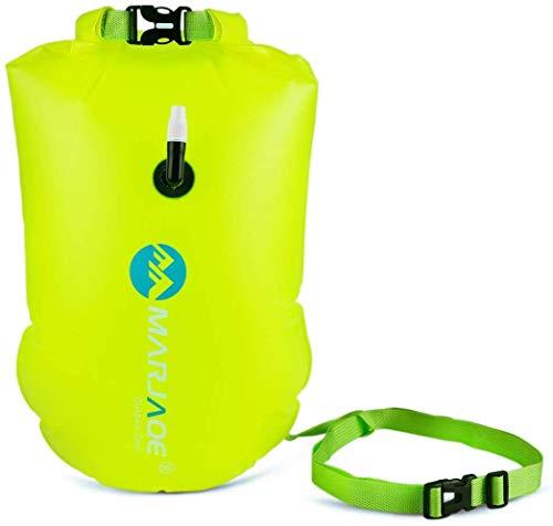 Schwimmboje Pull Buoys - Schwimmboje im Freien Schwimmkabine und Packsack für Schwimmer und Triathleten im offenen Wasser Leichter und sichtbarer Schwimmer für sicheres Training und Rennen (Green)