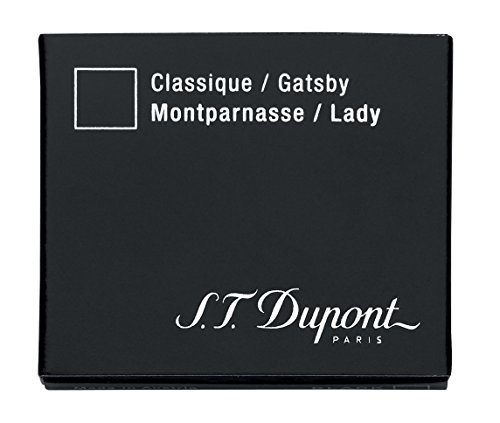 S.T Dupont d-40100pluma estilográfica cartuchos–negro