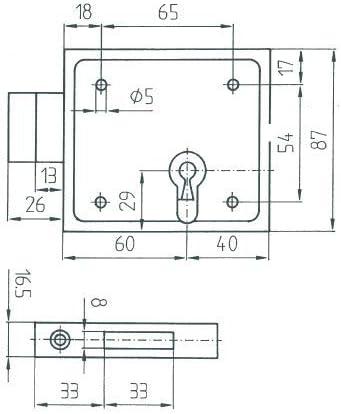 Czaika Aufschraubschloss Für Buntbart Bb 79bb Baumarkt