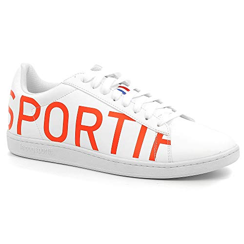 Le Coq Sportif Courtset Sneaker Herren Weiss/Orange - 45 - Sneaker Low