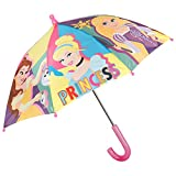 Paraguas Princesas Disney Niña - Paraguas Infantil Manual Cúpula Estampado Las Princesas Disney Cenicienta Rapunzel Ariel - Resistente Antiviento - Pequeñas 3/5 Años - 66 cm Diámetro - Perletti Kids