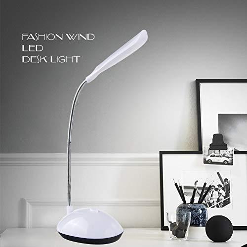 YCEOT LED leeslamp voor boeken 4 LED voor accu-reader tafellamp flexibel instelbaar voor nachtverlichting LED tafellamp
