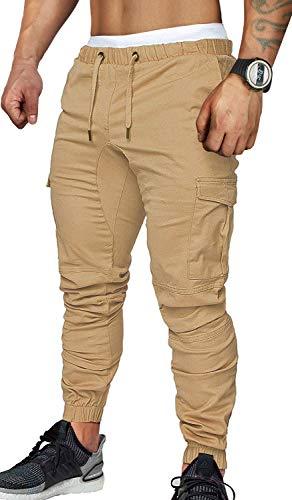 CARETOO Pantalones cargo para hombre, pantalones chinos para fitness, deporte, trekking, elásticos,...