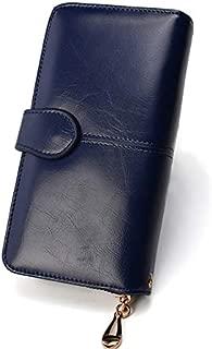 Women Wallet Female Purse Women Leather Wallet Long Coin Purse Card Holder Money Clutch Wristlet Multifunction Zipper