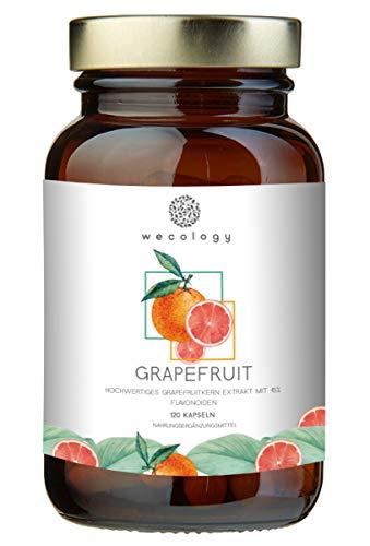 WECOLOGY® Grapefruitkernextrakt Kapseln Hochdosiert Vegan - 120 Stück für 4 Monate Vorrat - Grapefruitkern-Extrakt mit 45% Flavonoiden - Nachhaltig & Fair