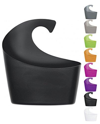 Spirella Duschkorb Sydney mit Haken zum einhängen, kombinierbares Duschregal 30,5 x 27,5 x 10 cm Schwarz