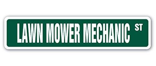 Mesllings Grasmaaier Mechanische Straat Teken Reparatie Reparateur Tractor Rijden Maaien | Binnen/buiten | 6