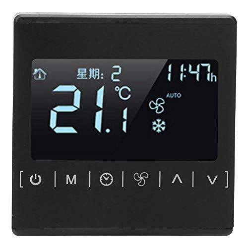 Digital programmierbarer Thermostat, LCD-Touchscreen-Fußbodenheizungsregler, Wechselstrom 85 ~ 260 V 10 ~ 30 ℃ Temperaturregler, Fußbodenheizungsregler