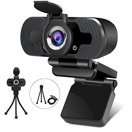 Cámara web Full HD 1080P con cubierta para webcam USB, con micrófono integrado, Plug and Play para ordenador de sobremesa, ideal para conferencias, transmisión en directo y llamadas de vídeo 03