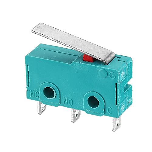 OverTop 10 piezas KW4-3Z-3 vástago recto 3D Pritner 3pin Micro Endstop Switch Limit SS-5GL