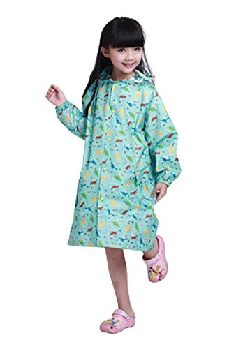 Korean Lovely bébé imperméable Mode enfants pluie Dinosaure Bleu S