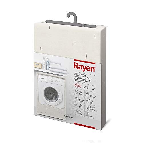 Rayen tela para proteger funda carga frontal | Cubierta impermeable para lavadora/secadora |84 x 60 x 60 cm, Blanco