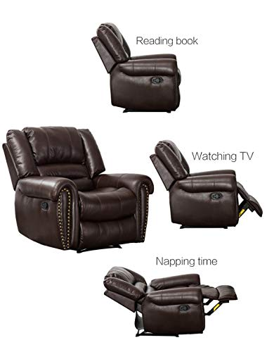 CANMOV-Leather-Recliner-Chair-Classic-and-Traditional-Manual-Recliner-Chair-with-Overstuffed-Arms-and-Back