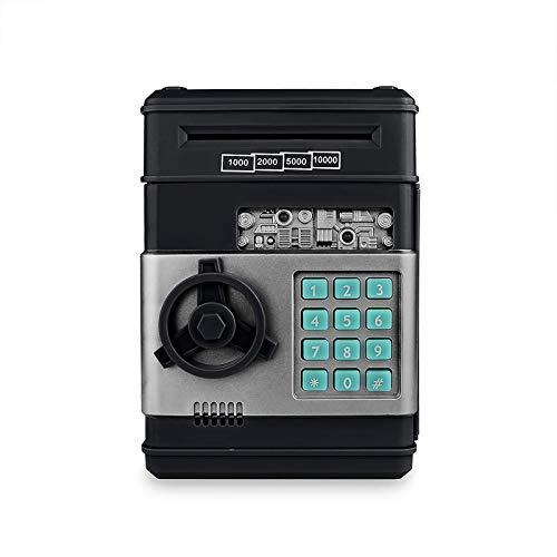 UTDKLPBXAQ Moneda Grande Billete Caja de Ahorro de Dinero Tarro Banco ATM Contraseña automática Ranura de Dinero automática Contraseña Teclado Almacenamiento Material