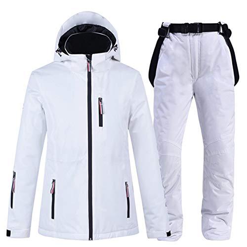 Goodtimera Mono de esquí para la nieve, pantalones de deporte al aire libre, mono impermeable, fácil de quitar, mantiene el calor en invierno, moda simple estilo 2020