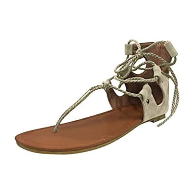 HunYUN Women's Clip-Toe Shoes Ladies Flat Bottom Ankle Straps Large Size Casual Sandals Suitable for All Occasions