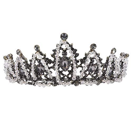 FRCOLOR Corona Nupcial Coronas de Tiara de Cristal Coronas Barrocas Mujeres Diademas...
