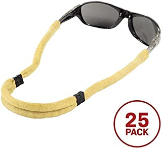 Chums Safety 12405108k Flame Resistant Kevlar No Tail Adjustable Eyewear Retainer, Natural (Pack of 6)